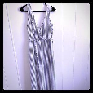 Black and white maxi dress/shorts